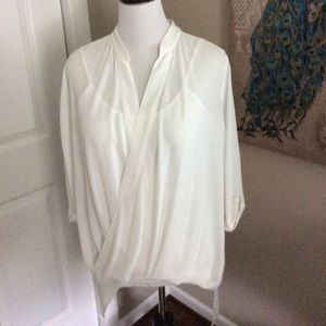 3/$24 Ivory Twist Front Top with Camisole